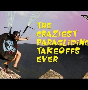Los despegues de parapente más locos
