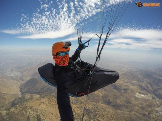 BGD Base, en un vuelo de cross por la pre-cordillera andina.