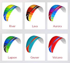 Colores disponibles para el BGD Base
