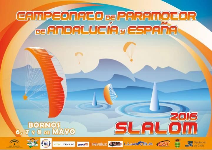 Poster Campeonato de España de paramotor slalom