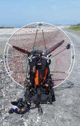 Pal Takats - paramotor over Mount Fuji.