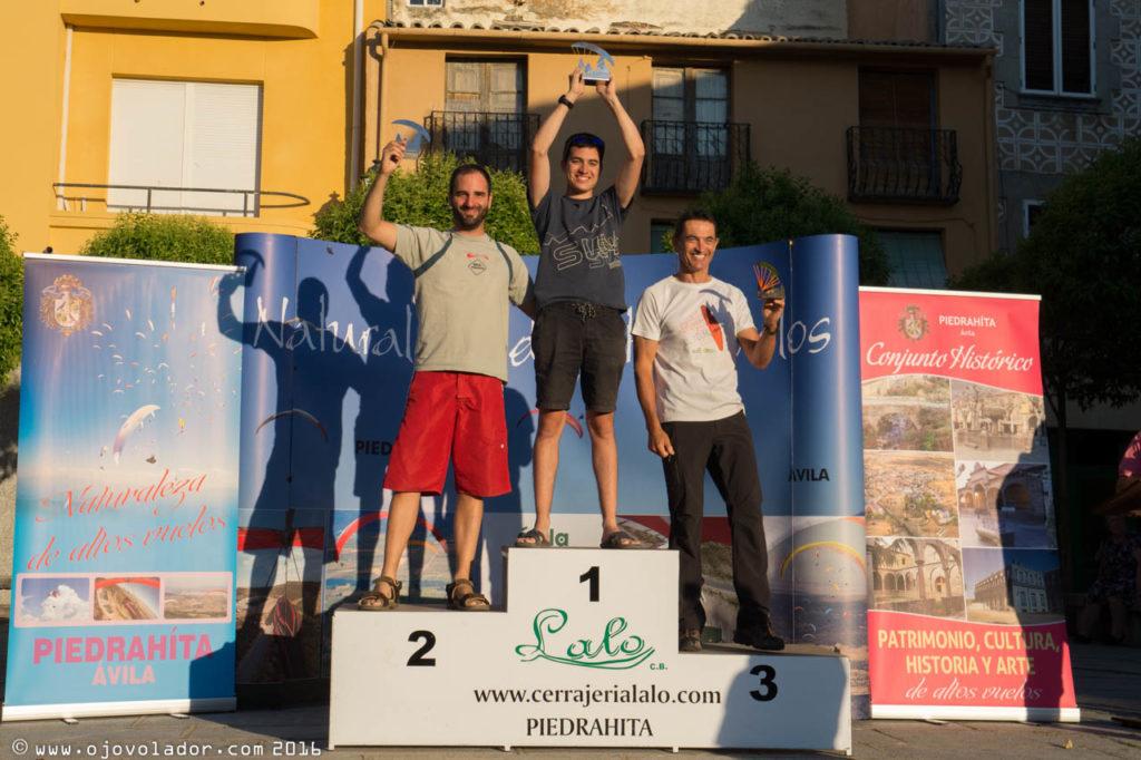 Podium Clase Sport - Open Ibérico parapente Piedrahita