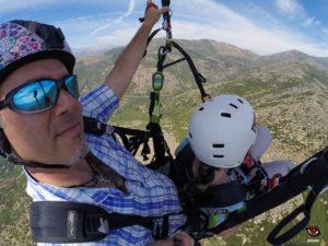 Volando un biplaza turístico con el instumento SkyDrop