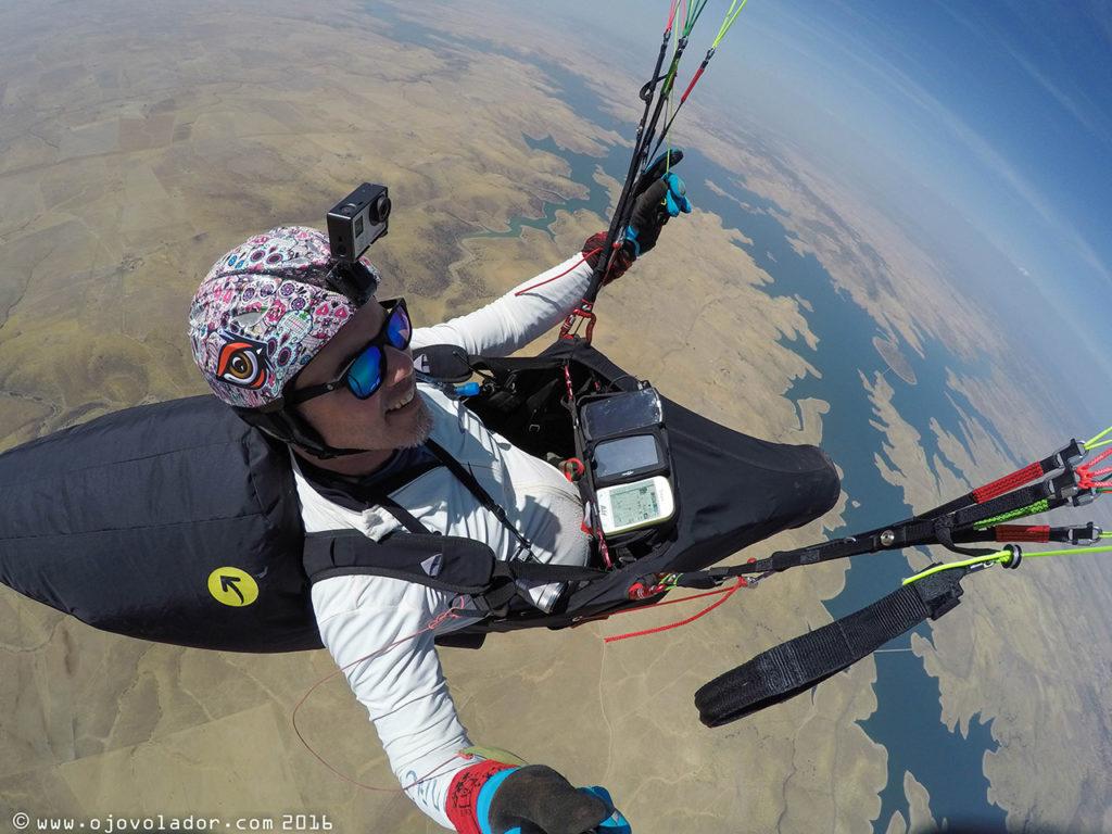 Antes de sobrevolar el pantano de Villanueva de la Serena. El primer escollo a superar durante los vuelo de XC en Zarzacapilla.