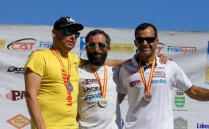 Vicente Palmero, Agustin Len y Javier Sierra, los campeones 2017 de paramotor Slalom