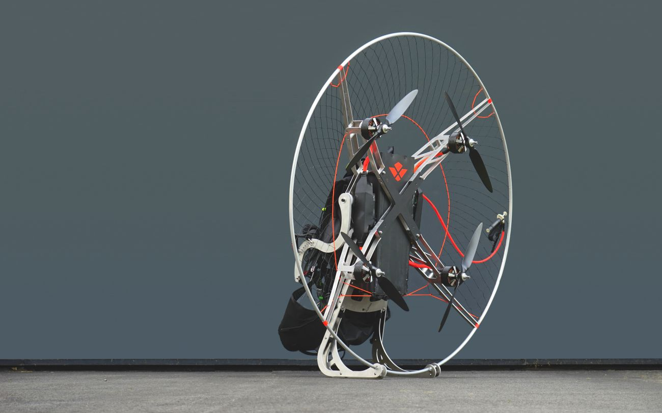 Revolt: Paramotor with 4 rotors wants to revolutionize