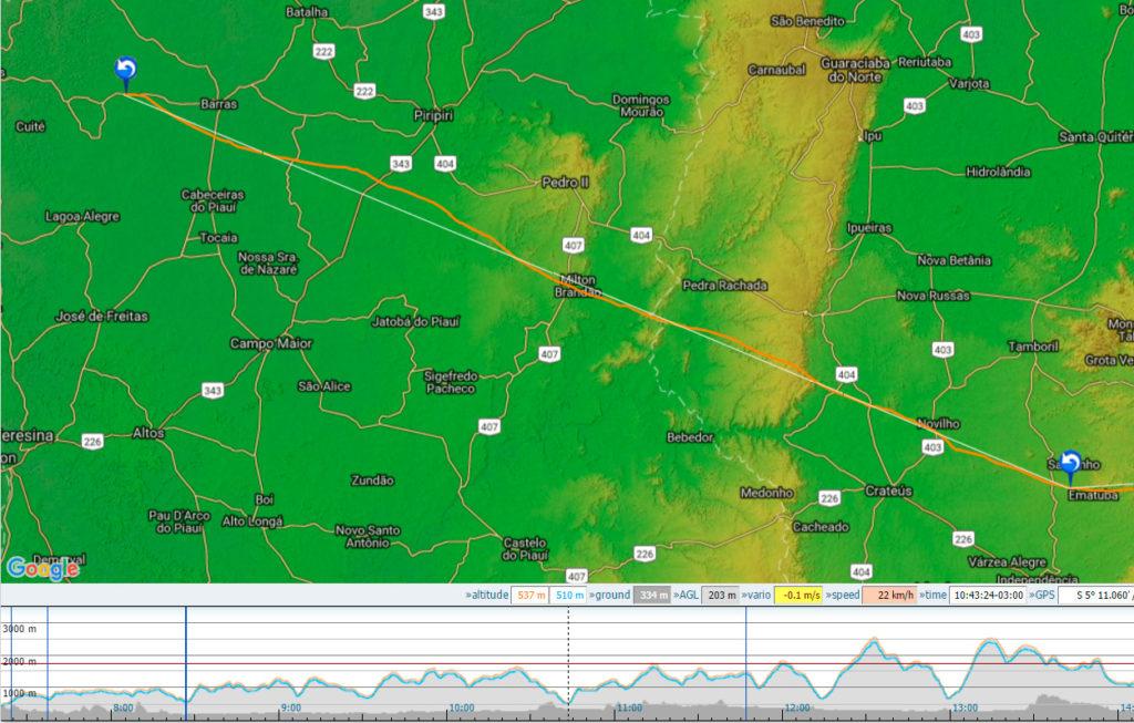 El vuelo de 400km de Joanna. Pincha en la imagen para ver el recorrido en el XContest.