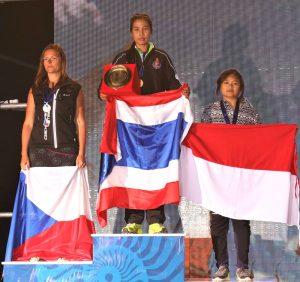 9th FAI World Paragliding Accuracy Championship - Female podium