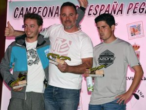 Open FAI2 Podium: Daniel Crespo 1st, Francisco Javier Reina 2nd and Tom Chauvin 3rd. Photo: Mario Arqué / Facebook