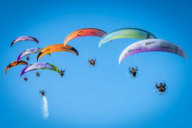 Paramotor at the Coupe Icare 2018