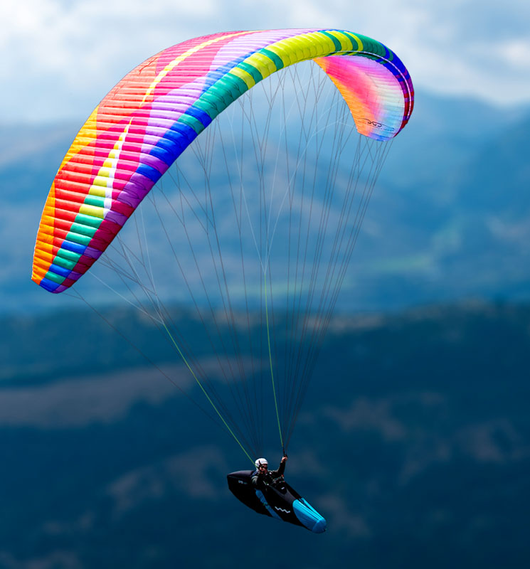 Cure 2 paraglider de BGD, an EN C with superior performance and comfortable in flight.